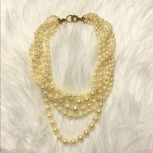 J Crew Multistrand Faux Pearls